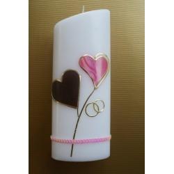 Hochzeitskerze pink