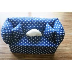 Taschentuchsofa blau mit...