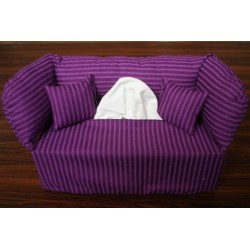 Taschentuchsofa lila Streifen