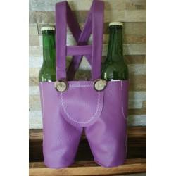 Lederhose violett