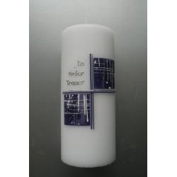 Trauerkerze violett/silber