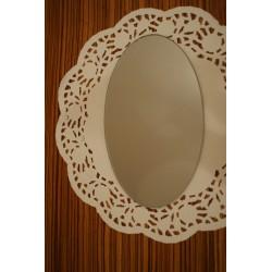 Spiegelplatte oval groß