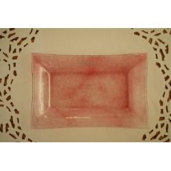 Glasteller rosa