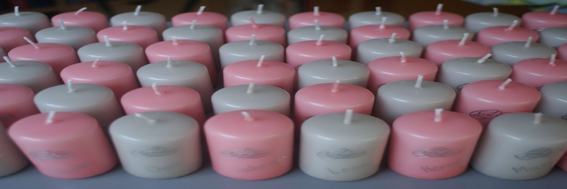 Kerzen auch als Tischkarte